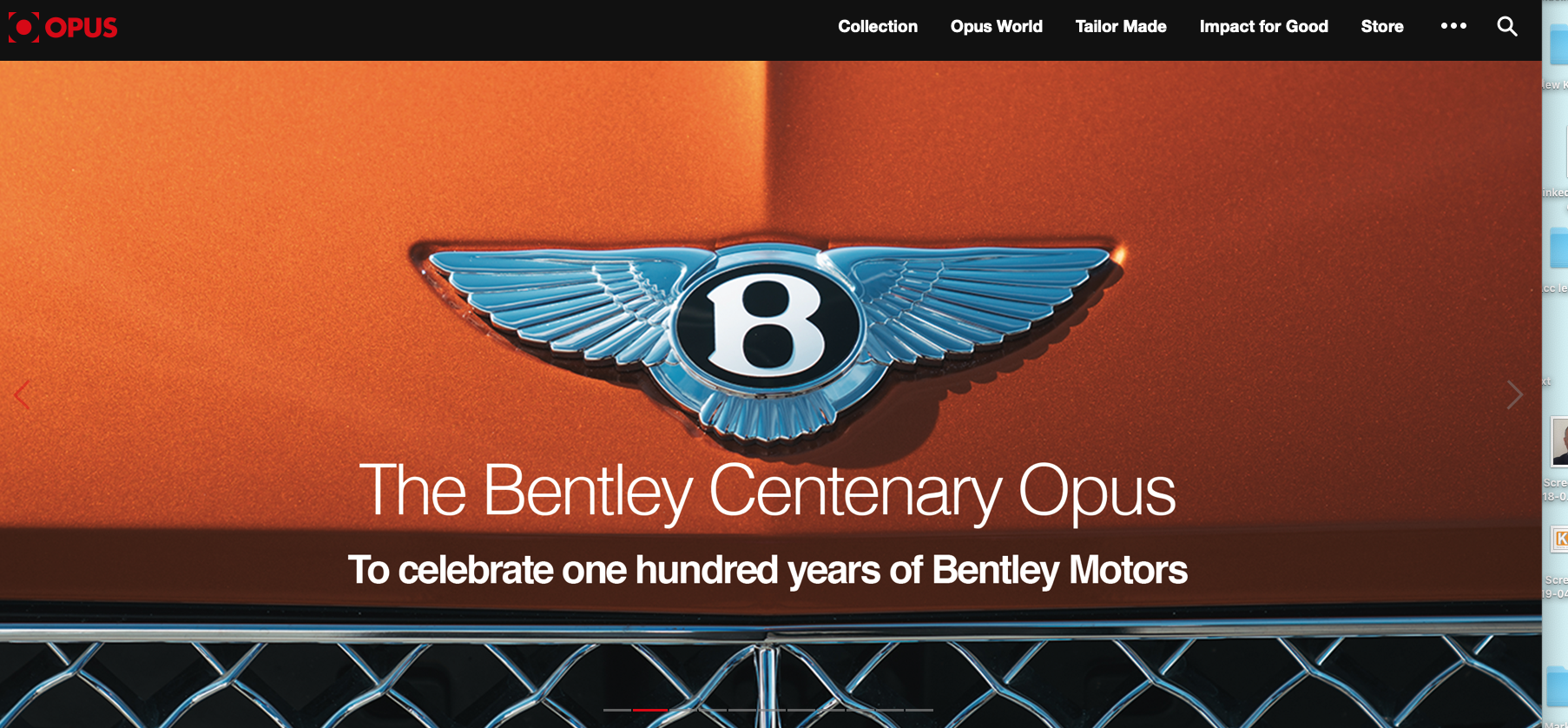 Designers use KAZ to produce the Bentley Opus